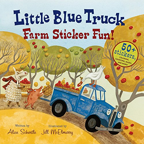 Little Blue Truck Farm Sticker -
