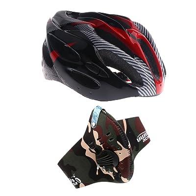 Sharplace Casque Protection De Cyclisme Vélo Sports Support Protecteur De Tête + Masque Filtre Équipement Protecion Vélo