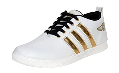 Magnetic Fashion Men's White Sneaker (8): Buy Online at Low