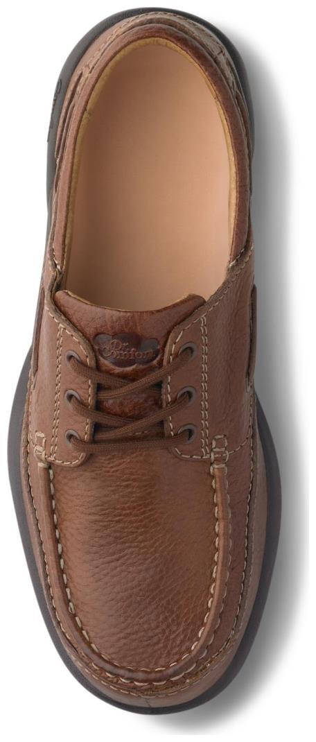 Dr. Comfort Patrick Men's Therapeutic Extra Depth Boat Shoe: Chestnut 12 X-Wide (3E/4E) Lace by Dr. Comfort (Image #2)