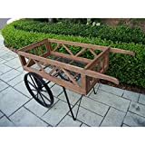 Oakland Living Corporation Hardened Powder Coat Finish Flower Garden Wagon