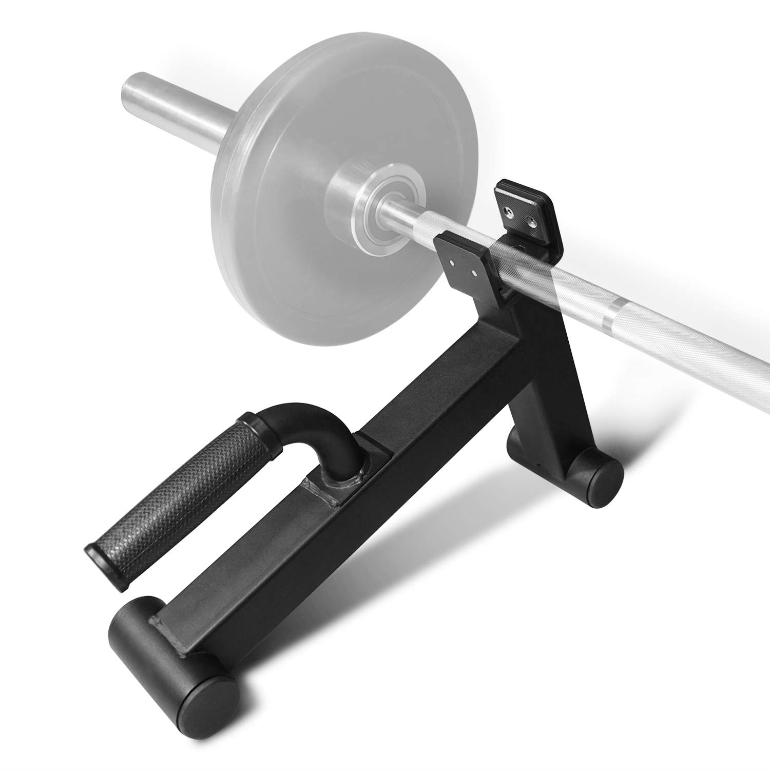 Yes4All Mini Deadlift Barbell Jack with Handle Ideal for Loading Unloading Weight Plates Deadlift Bar Jack Deadlift Jack Stand Black