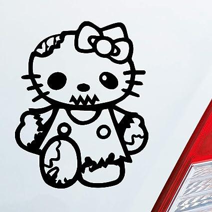 Amazon Fr Couleur De Voiture Autocollants Dans Votre Choix Zombie Hello Kitty Chat Dub Oem Jdm 10 X 13 Cm Autocollant Pour Voiture Sticker Film D Horreur