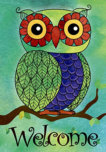 welcome owl double sided garden