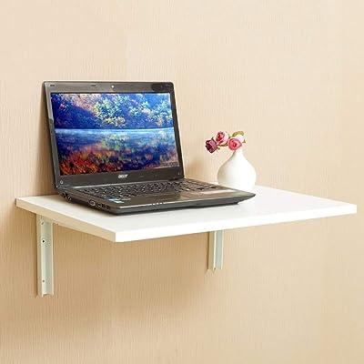 ZHAS Mesa Plegable/de Pared/Escritorio pequeño/Mesa de Comedor/Escritorio de computadora/Mesa de Almacenamiento para el hogar (Color: B, tamaño: 80 * 50 cm): Hogar