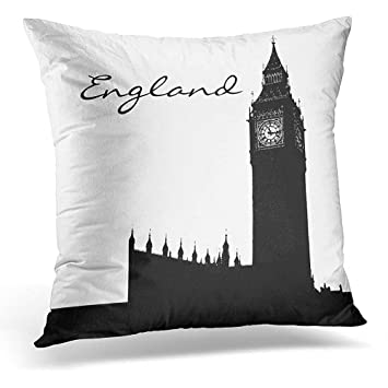 Amazon Throw Pillow Cover Furnishings Black And White England