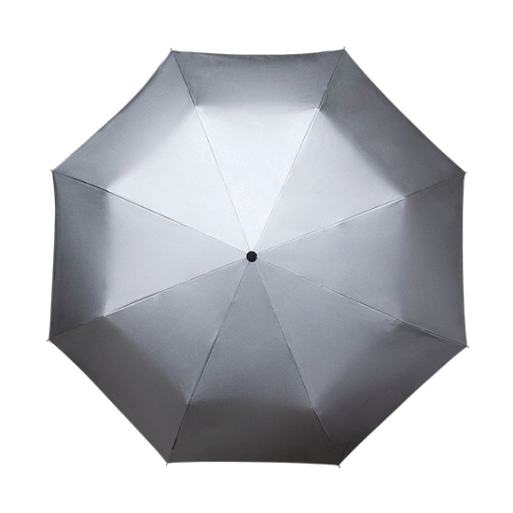 Compact Umbrella with Wind Resistant /& UV Sun Protection Umbrella Silver Canopy