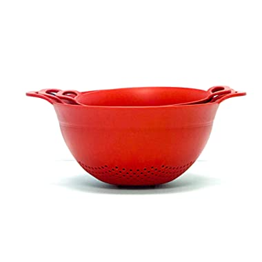 Mintra Home Colander 3pk (Assorted 3pk, Red)