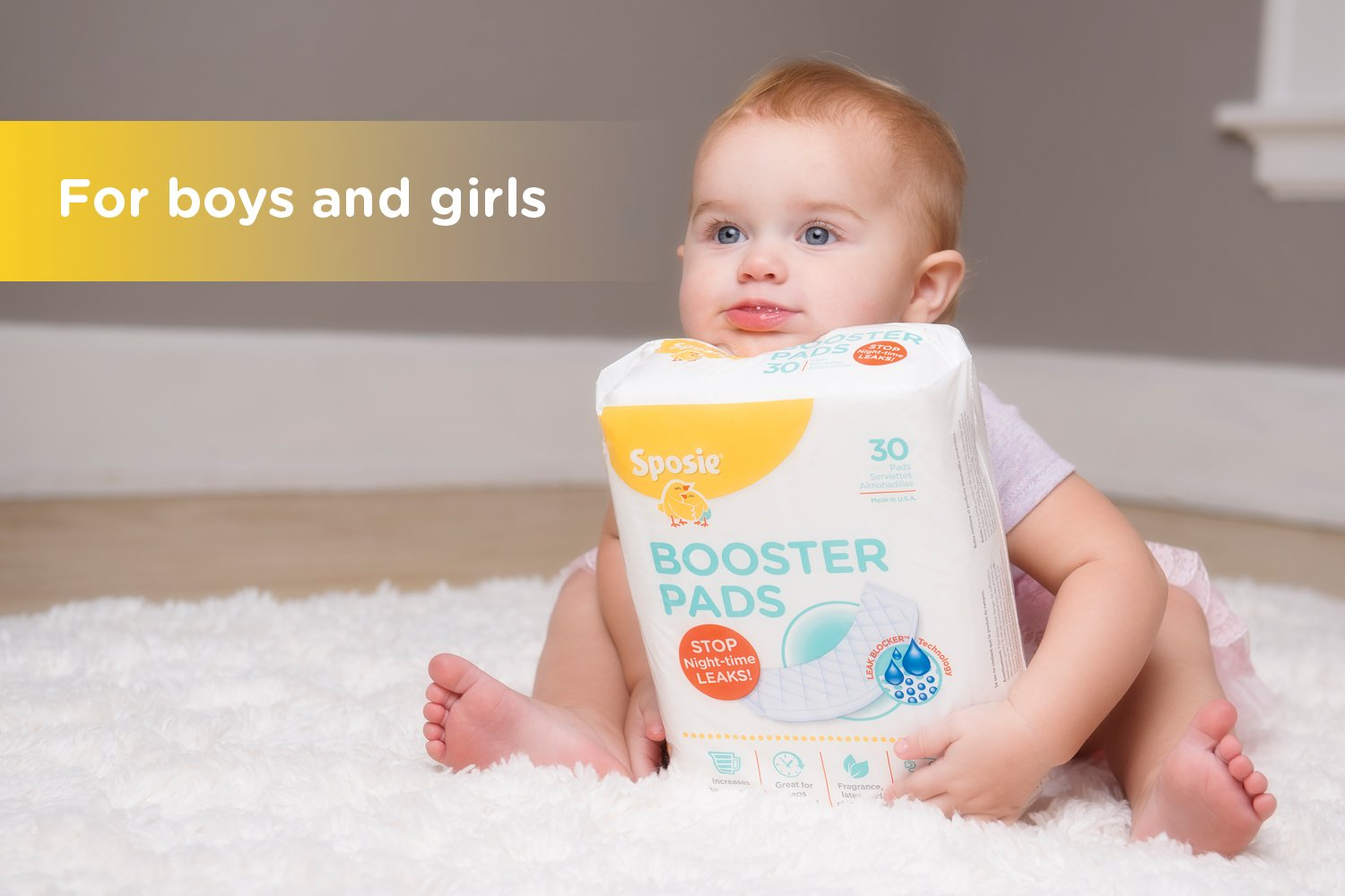 Sposie Booster Pads Diaper Doubler, 90 Count, 3 Packs of 30 Pads by Select Kids (Image #7)