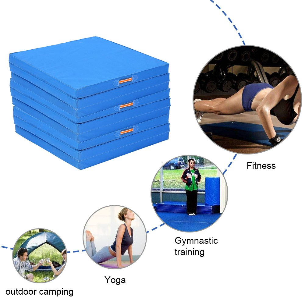 Gymnastikmatten Klappbar Weichbodenmatte Gymnastikmatte Yoga Fitness