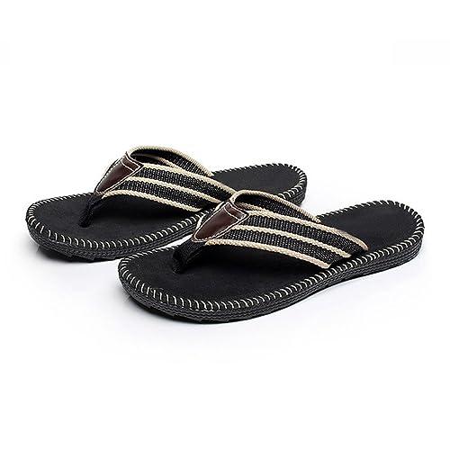 2db3075d6dbc1e Men s Premium Black Padded Sandal Flip Flops (10 US Size)