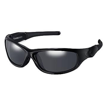 OMORC Gafas de Sol Deportivas polarizadas, 100% protección UV, TR90 Marco Duradero,