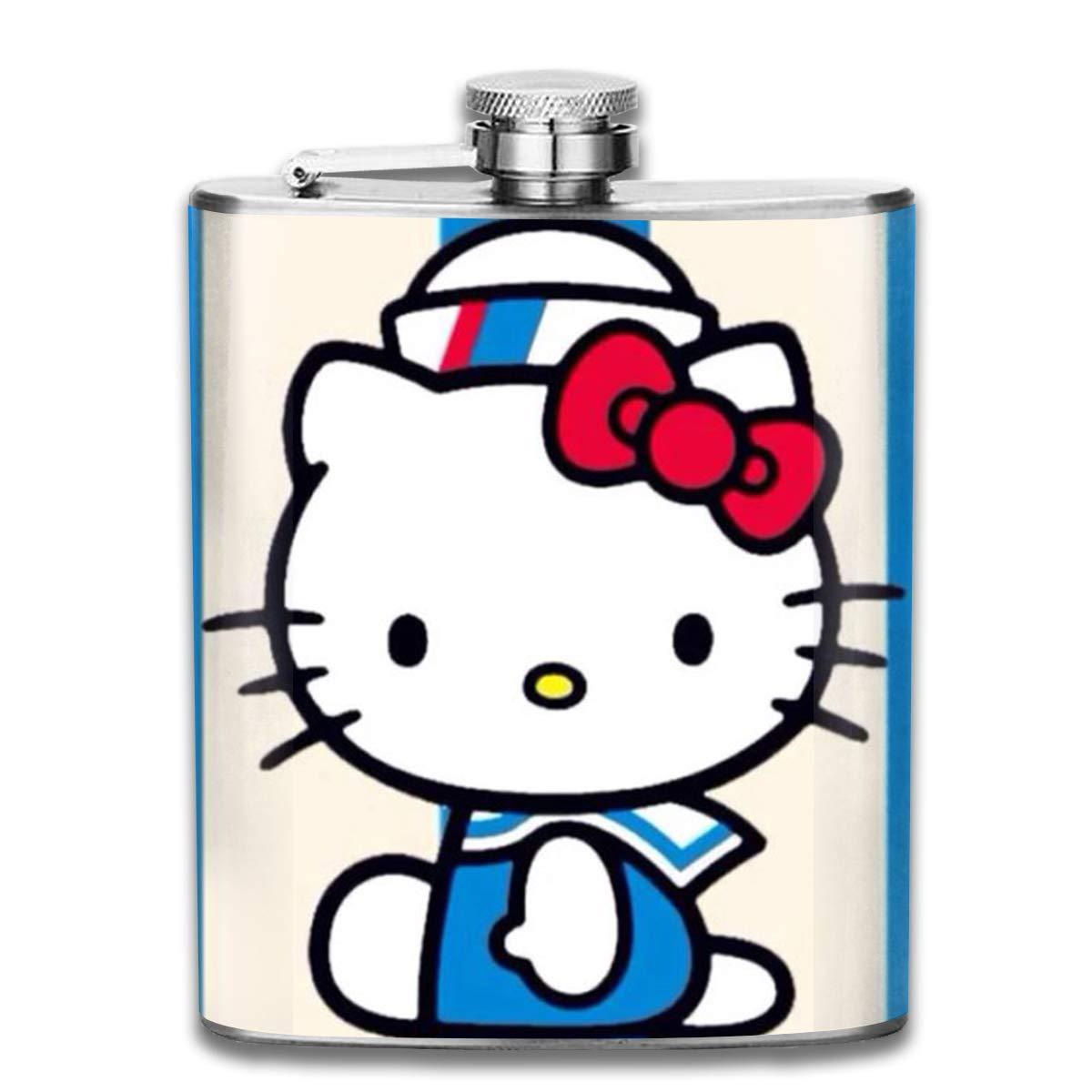 c59cac78f Amazon.com: LJYD Stainless Steel Flask Hello Kitty Sailor Art Print 7 Oz  Hip Flask: Home & Kitchen