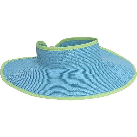 0645894d263 San Diego Hat Company Women s Ultrabraid Visor with Ribbon Binding ...