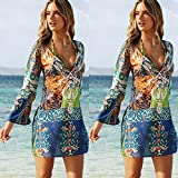 AutumnFall® Women Sexy Chiffon Bohemian Cover Up Beach Dress