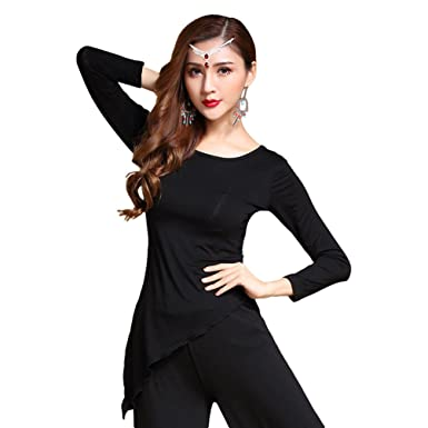 2d357695c31b8 YiJee Women Belly Dance Tops Dancing Wear Performance Dancewear Costume   Amazon.co.uk  Clothing