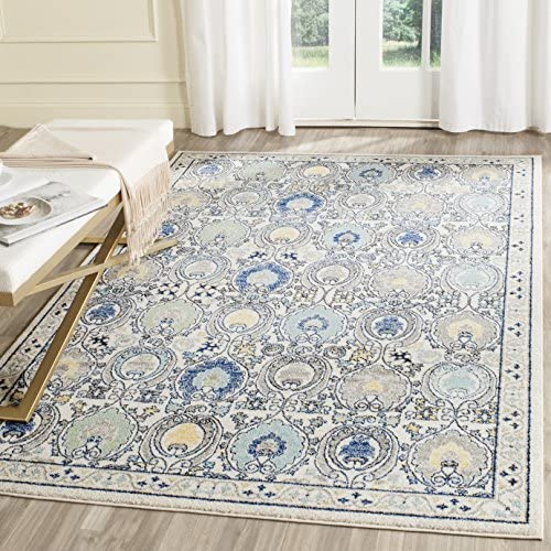 Safavieh Evoke Collection Ivory and Grey Area Rug, 11 x 15