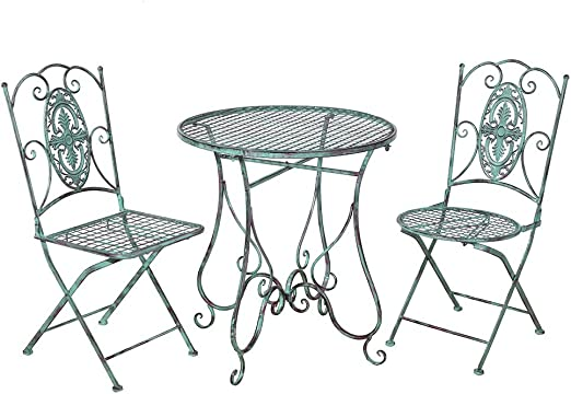 merriness Retro silla de jardín mesa redonda de jardín mesa mesa con mal tiempo Best?ndig