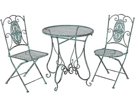 merriness Retro silla de jardín mesa redonda de jardín mesa mesa ...