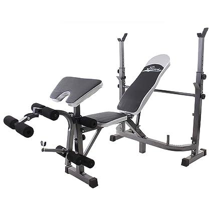 Riscko Banco de musculación multifunción, Banco de Pesas Fitness