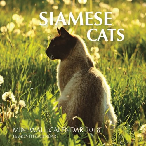 Siamese Cats Mini Wall Calendar 2018: 16 Month Calendar pdf