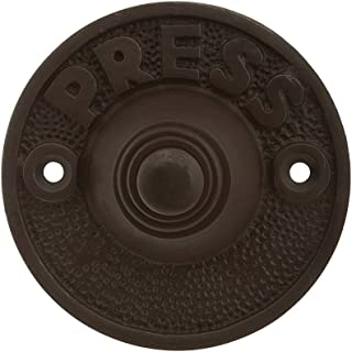 Vintage \ Press\  Door Bell Button In Oil Rubbed Bronze  sc 1 st  Amazon.com & Hammered Craftsman Style Doorbell Button - Doorbell Push Buttons ...