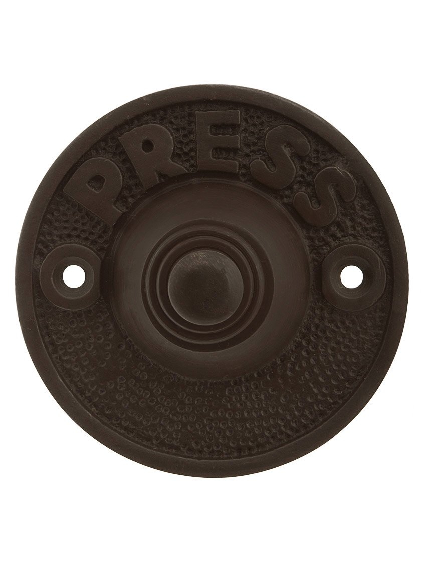 Vintage''Press'' Door Bell Button In Oil Rubbed Bronze by House of Antique Hardware, Inc.