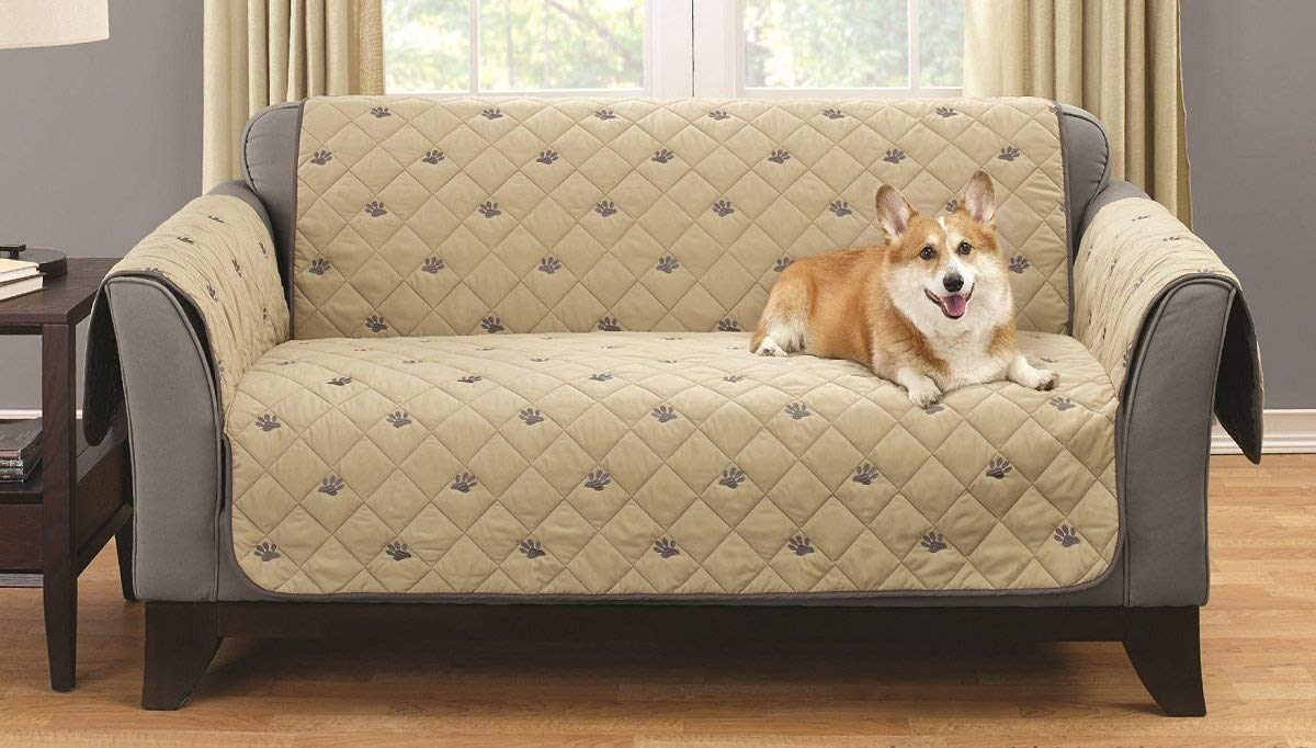 South Bay Loveseat Embroidery Pet Protector with Silicone Backing