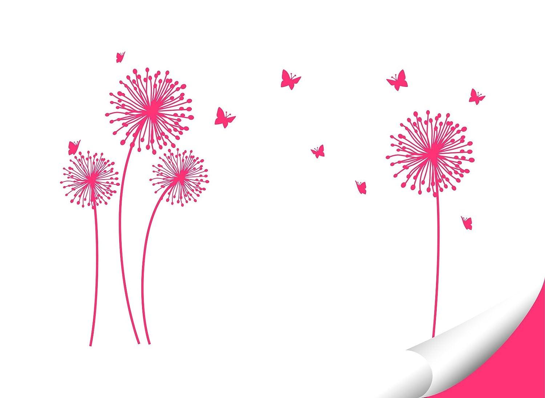 Wandora Wandtattoo 4 PusteBlaumen Schmetterlinge I weiß weiß weiß L-Set I Kinderzimmer Flur Wohnzimmer Schlafzimmer Wandsticker Sticker Aufkleber Wandaufkleber W1509 B074K92MGW Wandtattoos & Wandbilder e81d99