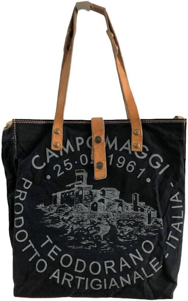 Campomaggi - Bolso bandolera (30 cm), color Negro, talla Einheitsgröße