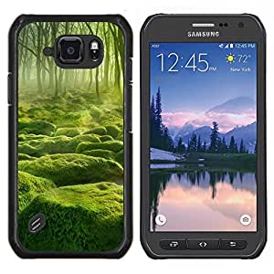 LECELL--Funda protectora / Cubierta / Piel For Samsung Galaxy S6Active Active G890A -- Misty verde Forrest --
