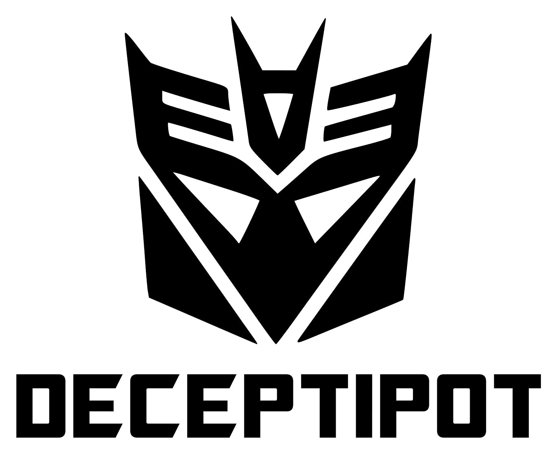 "DECEPTIPOT 5"" x 6"" Vinyl Decal Sticker for Instant Pot - Transformers Decepticon - 20 Color Options - Black"