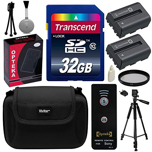 Beginner's Accessories Bundle Kit for Sony Alpha A57, A58, A65, A77, A99, A100, A200, A300, A350, A450, A500, A550, A560, A580, A700, A850, A900 includes 32GB Class 10 SDHC Memory Card + Pack of 2 Replacement (1800mAh) NP-FM500H Battery + AC/DC Rapid Home by Sony