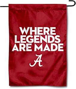 College Flags & Banners Co. Alabama Crimson Tide Where Legends are Made Garden Flag