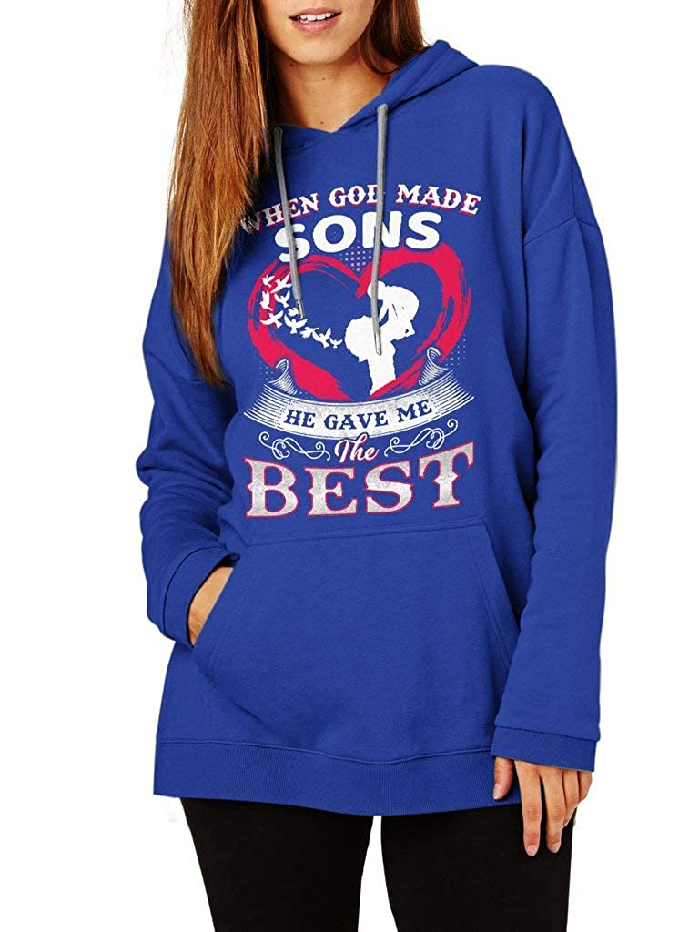 Funny Vintage Trending Awesome Shirt Unisex Style Hoodie SMLBOO When God Made Sons He Gave Me The Best