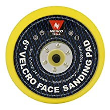 Neiko 30263A Sanding Pads 6-Inch Velcro Face Hook and Loop for Random Orbital Sanders, 10 Pieces