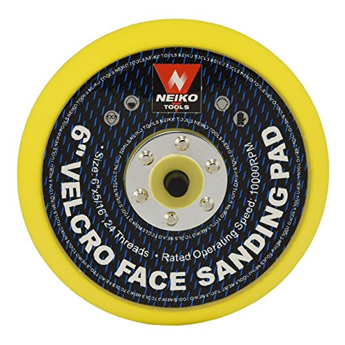 Neiko 30263A Sanding Pads 6-Inch Velcro Face Hook and Loop for Random Orbital Sanders, 1 Piece (Face Backing)