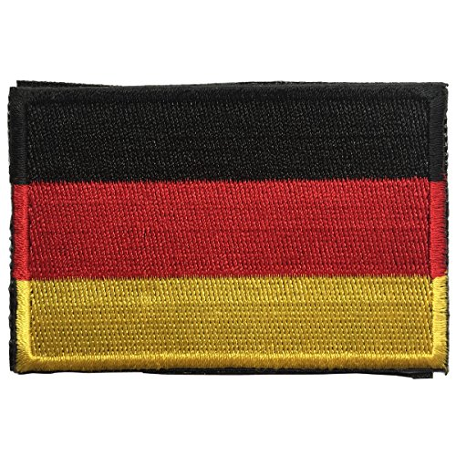 SpaceAuto Flag of Germany Military Tactical Morale Badge Hook & Loop Badge Patch 3