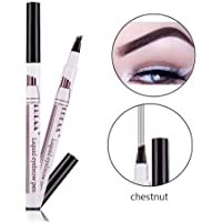Aolvo Eyebrow Tattoo, Pen Fine Sketch Brow Tint Pen with Four Tips Liquid Eyebrow Pencil Waterproof Brow Gel for Eyes Makeup