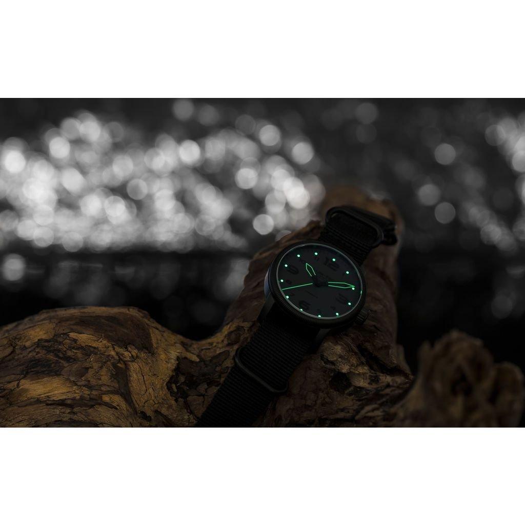 Lum-Tec B39 Phantom Watch | Leather Watch Band - Black by Lum-Tec (Image #4)