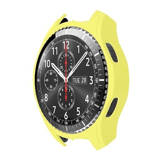 silicio Delgado Inteligente Funda de Reloj Xinan para Samsung Gear S3 Frontier (Amarillo)