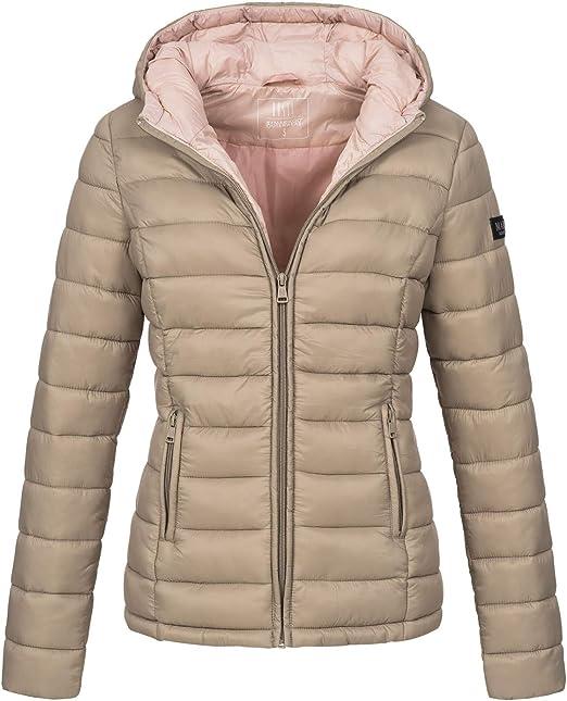 Marikoo Damen Jacke Steppjacke Herbst Winter Übergangsjacke gesteppt B651