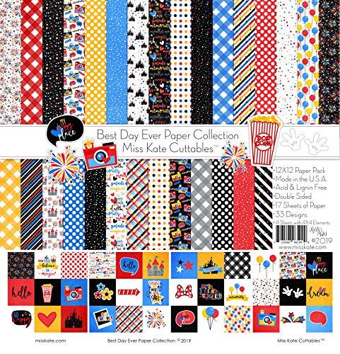 Disney Scrapbook Supplies - Pattern Paper Pack - Best Day
