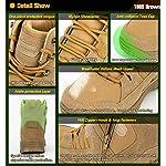 Ansbowey Bottes Hommes Chaussures de Randonnée Femmes Tactiques Militaire Combat Boots Exterieur antidérapantes Bottines… 9