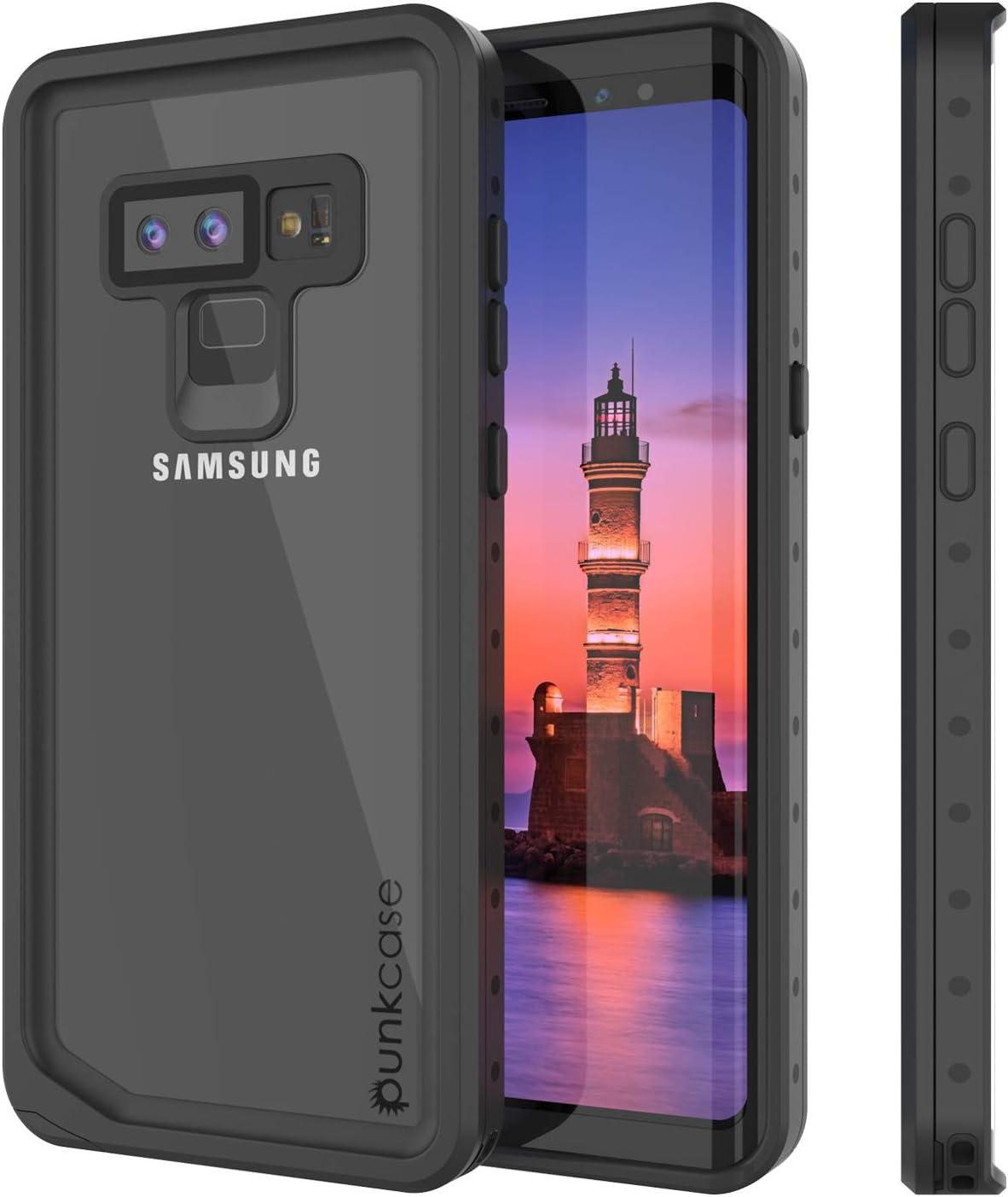Galaxy Note 9 Waterproof Case, Punkcase [StudStar Series] [Slim Fit] [IP68 Certified] [Shockproof] [Dirtproof] [Snowproof] Armor Cover for Samsung Galaxy Note 9 [Clear]