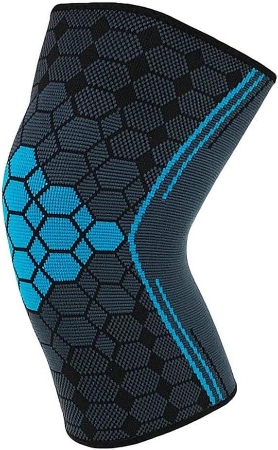 PMWLKJ 1pc Sport Sweat transpirable Protege sus articulaciones contra daños.Tejido natural de alta calidad.Rodilleras exquisitas.L azul