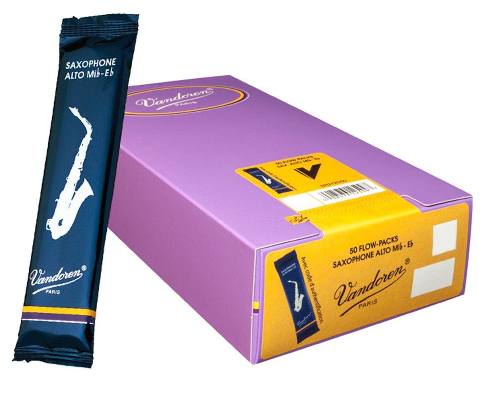 Vandoren SR2125/50 Alto Sax Traditional Reeds Strength 2.5; Box of 50
