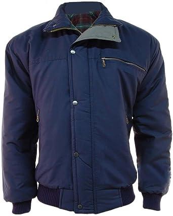 8094bfe60 Mens Classic Padded Warm Bomber Jacket Coat