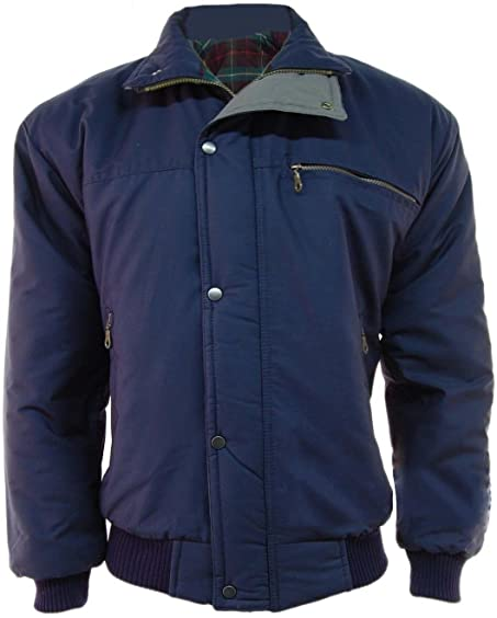 Mens Classic Padded Warm Bomber Jacket Coat: Amazon.co.uk: Clothing