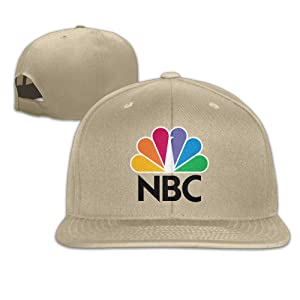 Adult Nbc Sports Adjustable Snapback Flat Baseball Cap - 5 Colors Natural